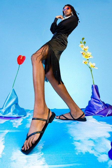 """INTENTIONALLY __________."" Ok Wow Sandals - Black"