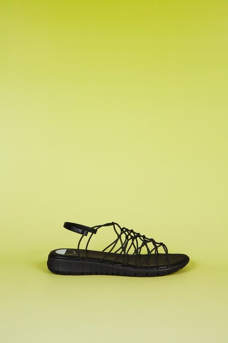 """INTENTIONALLY __________."" Wednesday Sandals - Black"