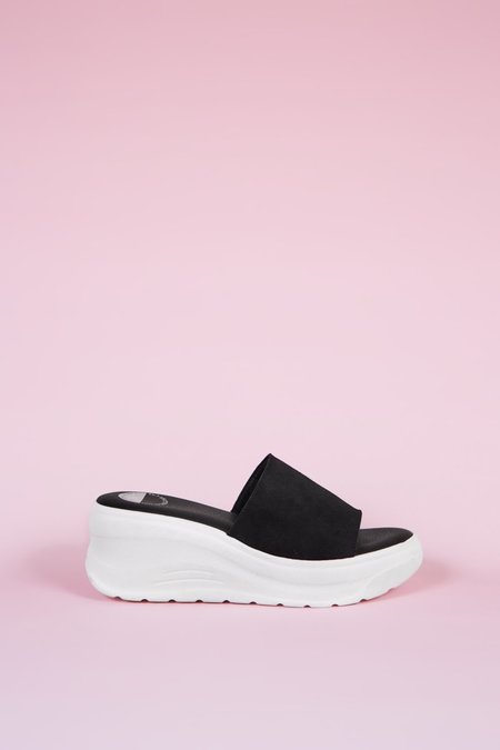 """""""INTENTIONALLY __________."""" Yes Please Sandals - Black"""