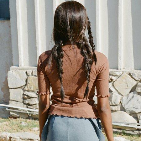 Baserange Pama 3/4 Tshirt - Loam Brown