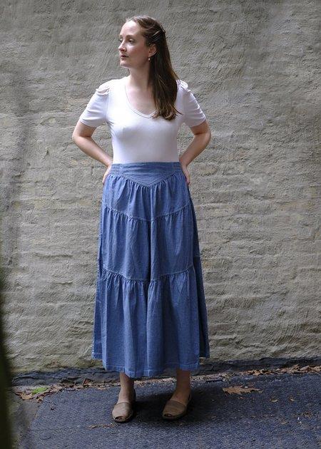 Sea NY Denim Skirt - blue