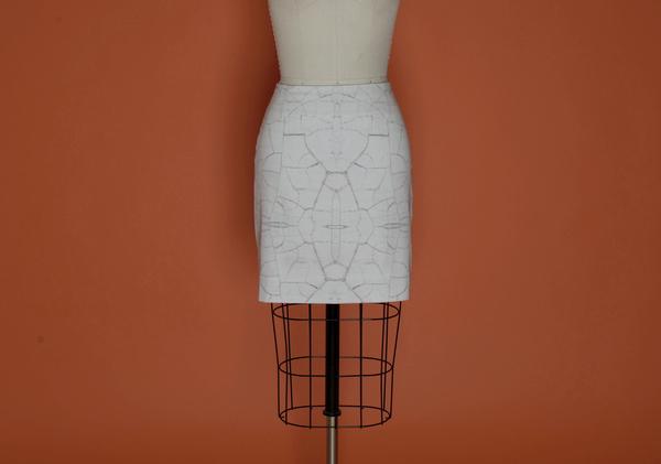 Brit Wacher Micro Mini Print Skirt