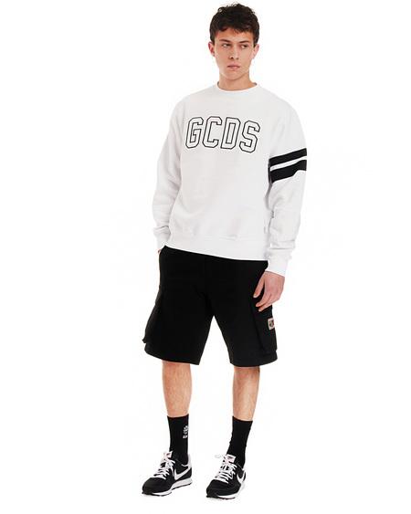 GCDS print Sweatshirt - white