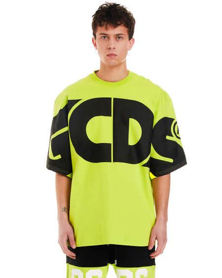 GCDS Oversize Print T-shirt - green