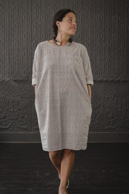 Pamela Mayer Circle Dress - black/white stripe