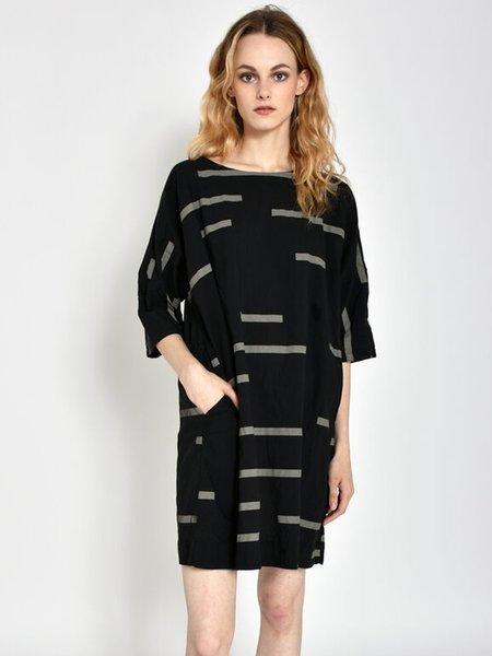Uzi NYC Now Dress - Broken Stripe