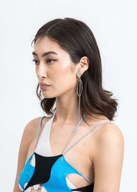 DEPARTMENT Drop And Chain Earring - White Gold
