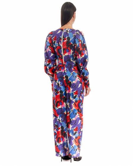Rotate Abstract Print Short Top - Multicolor