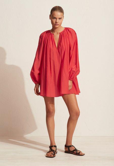 Matteau Voluminous Mini Dress - Poppy