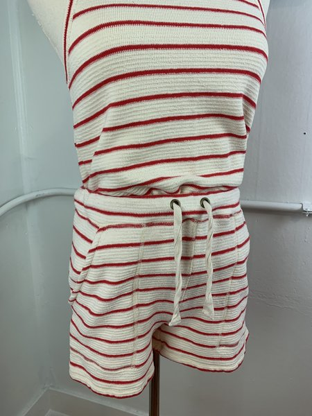 pre-loved Lilla P. Terry Stripe Set - red/white