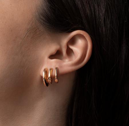 Jenny Bird Teeni Toni earrings - 14K gold-dipped brass
