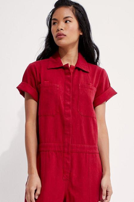 Back Beat Co. Boilersuit - Apple Red