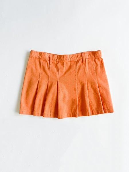 Vintage Pleated Mini Skirt - Mango