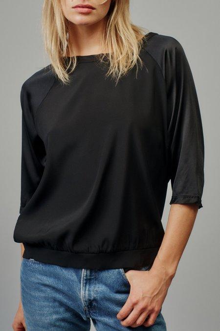 Aquarius Cocktail Jane Woven Sweatshirt - Jet Black