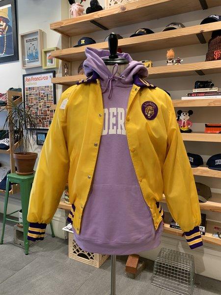Vintage Tilted Brim LSU Tigers Nylon Varsity Jacket - Yellow/Purple