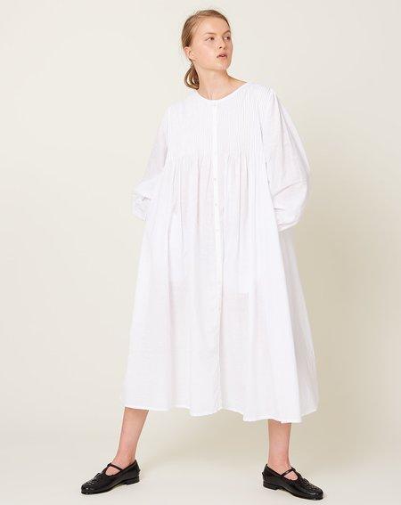 ICHI ANTIQUITES Khadi Cotton Dress - White