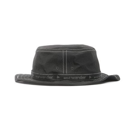 and wander JQ TAPE HAT - BLACK