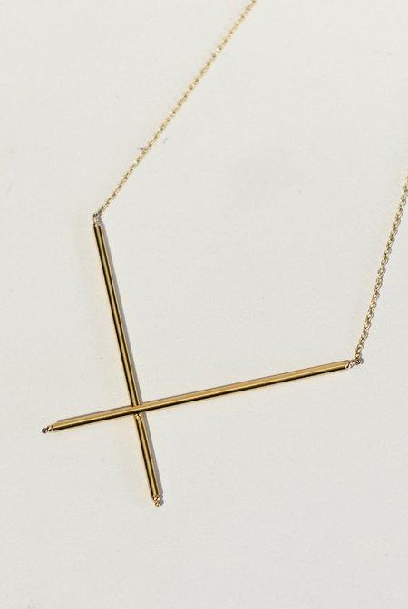 Grace & Flux X Necklace - Golden