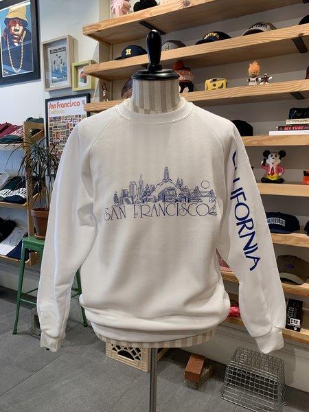 Vintage Tilted Brim Tourist Crewneck Sweatshirt - White