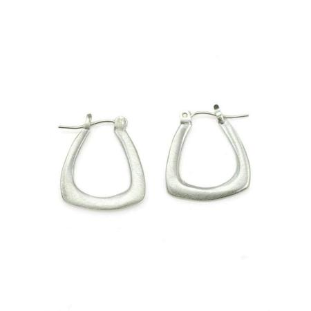 Philippa Roberts Hope Small Triangle Hoops Earrings - Silver