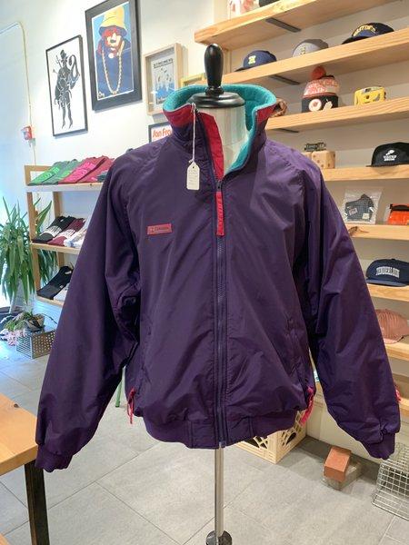 Vintage Tilted Brim Columbia Nylon Fleece Jacket - Purple