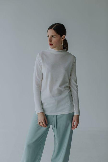 Mina Yoli Knit Top - Milk