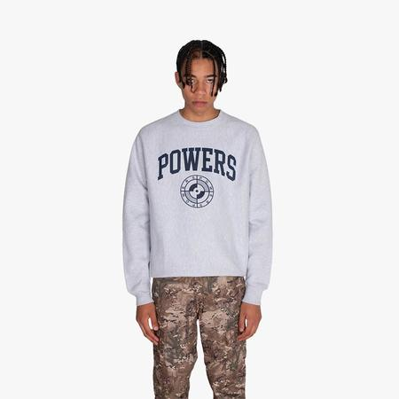 Powers College Arch Crewneck sweater - gray