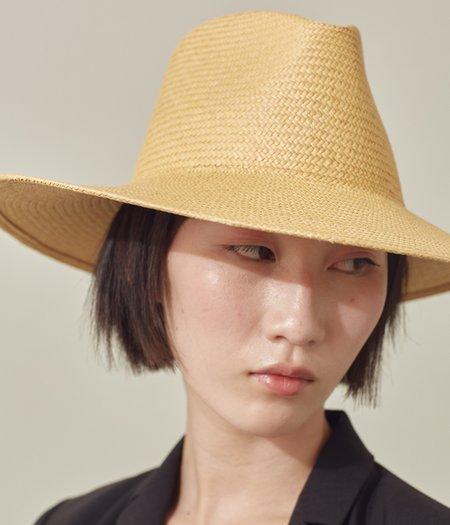 Clyde Panama Straw Caro Hat - Apricot
