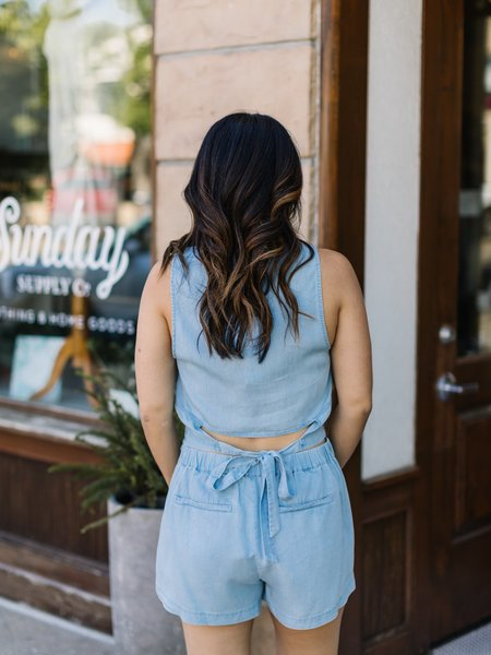 Saltwater Luxe Pull on Short - Chambray