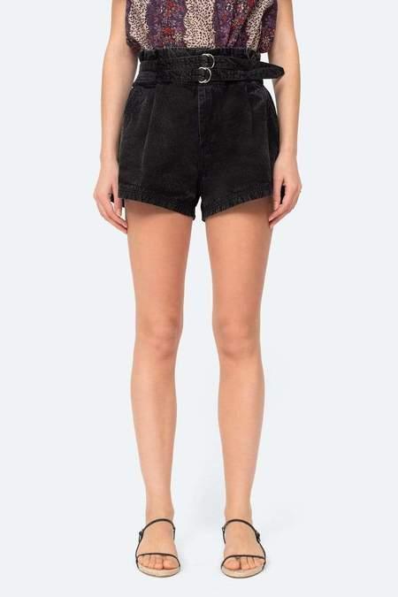 Sea NY Evelina Belted Shorts - Black