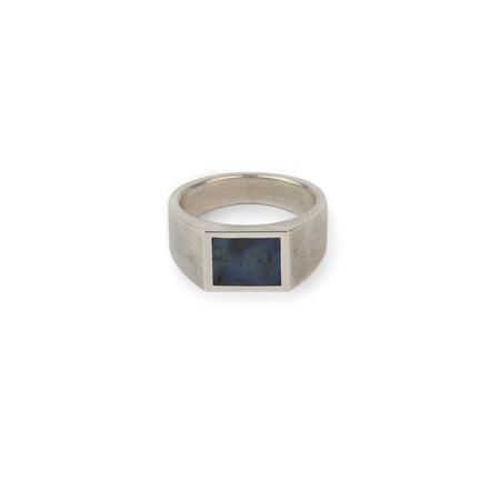 M. COHEN Minia Glib Ring - Silver/Lapis