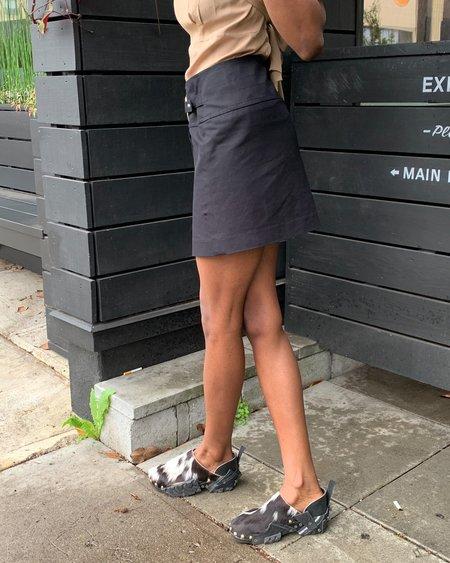 Vintage Circle Buckle Mini skirt - black