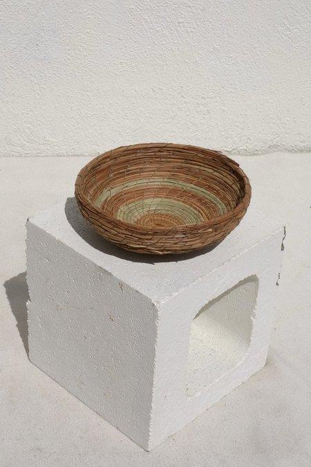 Borrowed Basketry Pine Needle Bowl Basket - natural
