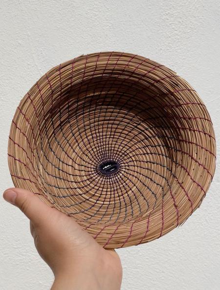 Borrowed Basketry Pine Needle Gathering Basket - Natural