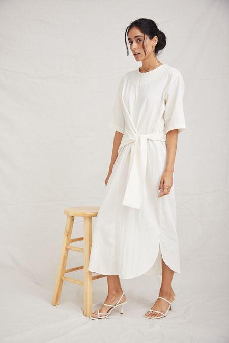 OAD Wrap Dress - Creme