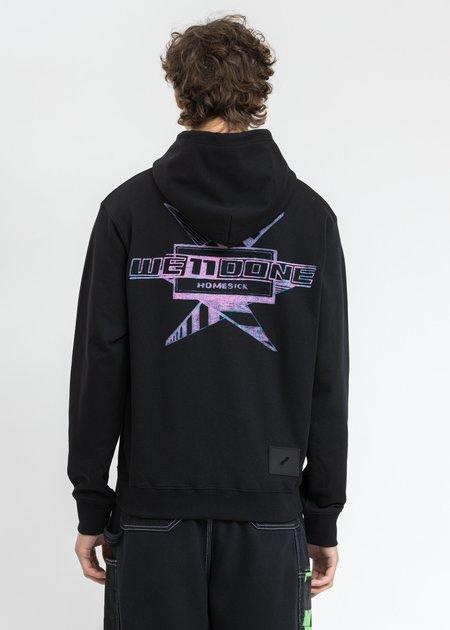 we11done Multi Color Logo Hoodie - Black
