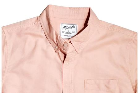 Milworks Cotton Oxford Shirts - Pink