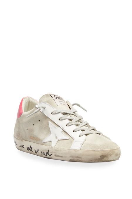 Golden Goose Super Star sneakers - White/Light Red