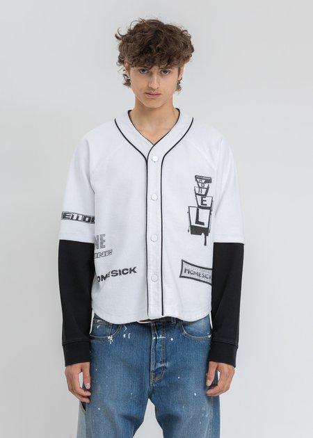 we11done Baseball Jersey Long Sleeve Jacket - White