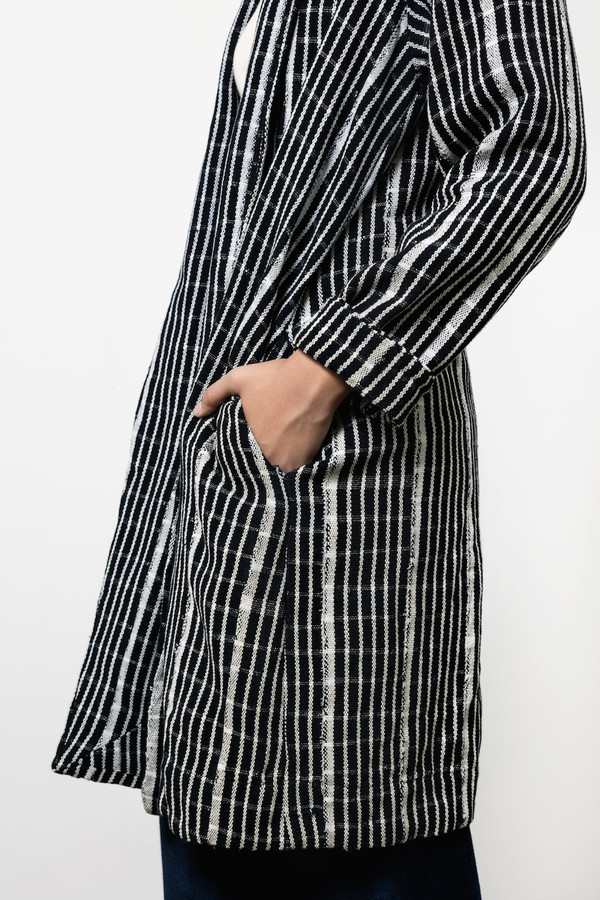 Osei-Duro Theca Coat in Handwoven Grid