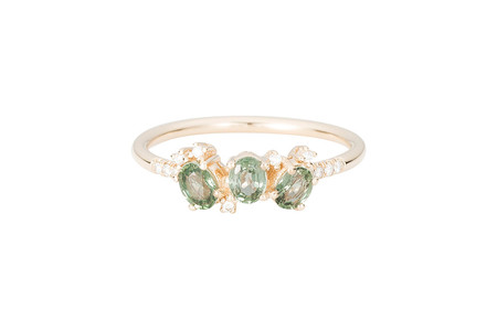 Jennie Kwon Designs Green Sapphire Cluster Fan Ring