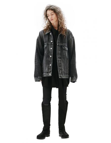 Balenciaga Denim Jacket With Back Print