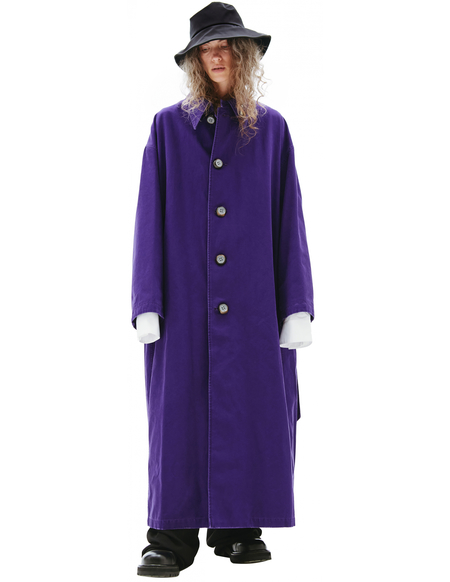 Raf Simons Oversize Coat - Purple