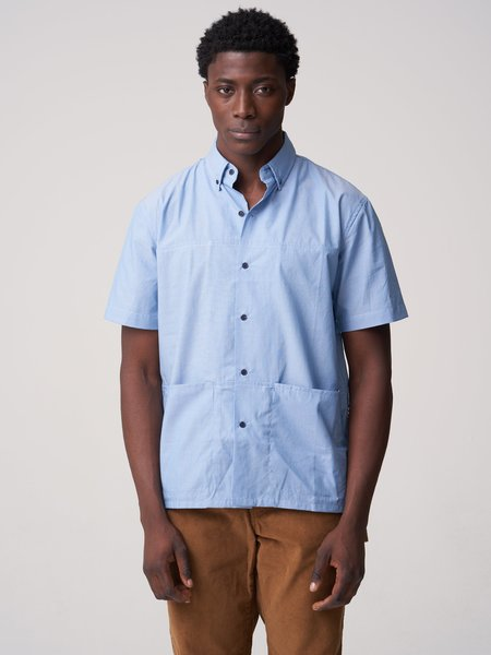 Freemans Sporting Club Short Sleeve Pocket Shirt - MEDIUM CHAMBRAY