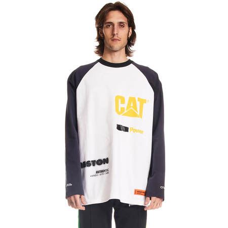 HERON PRESTON Cat Raglan power ls tee - White