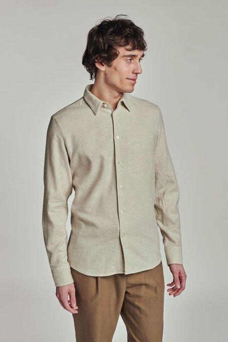 Delikatessen Feel Good Italian Linen Shirt - Beige