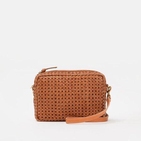 Clare V. Rattan Leather Midi Sac - Tan