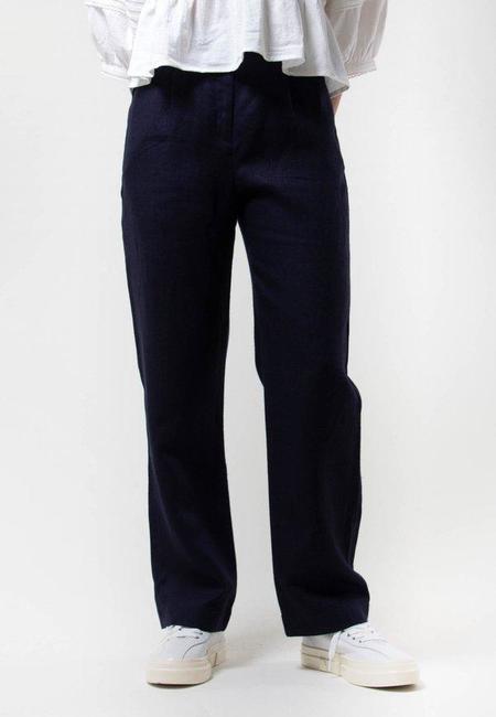 Paloma Wool Shanghai Pleated Trousers - navy