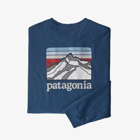 Patagonia Men's Long-Sleeved Line Logo Ridge Responsibili-Tee - Crater Blue
