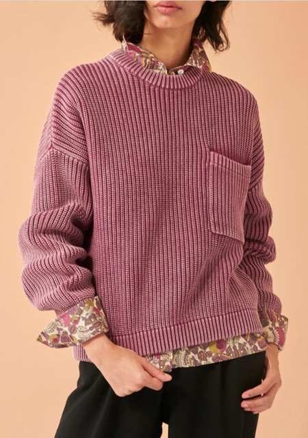 Demy Lee Grant Cotton Sweater - Pale Orchid